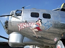 yankee girl B-17 bomber Nose Art