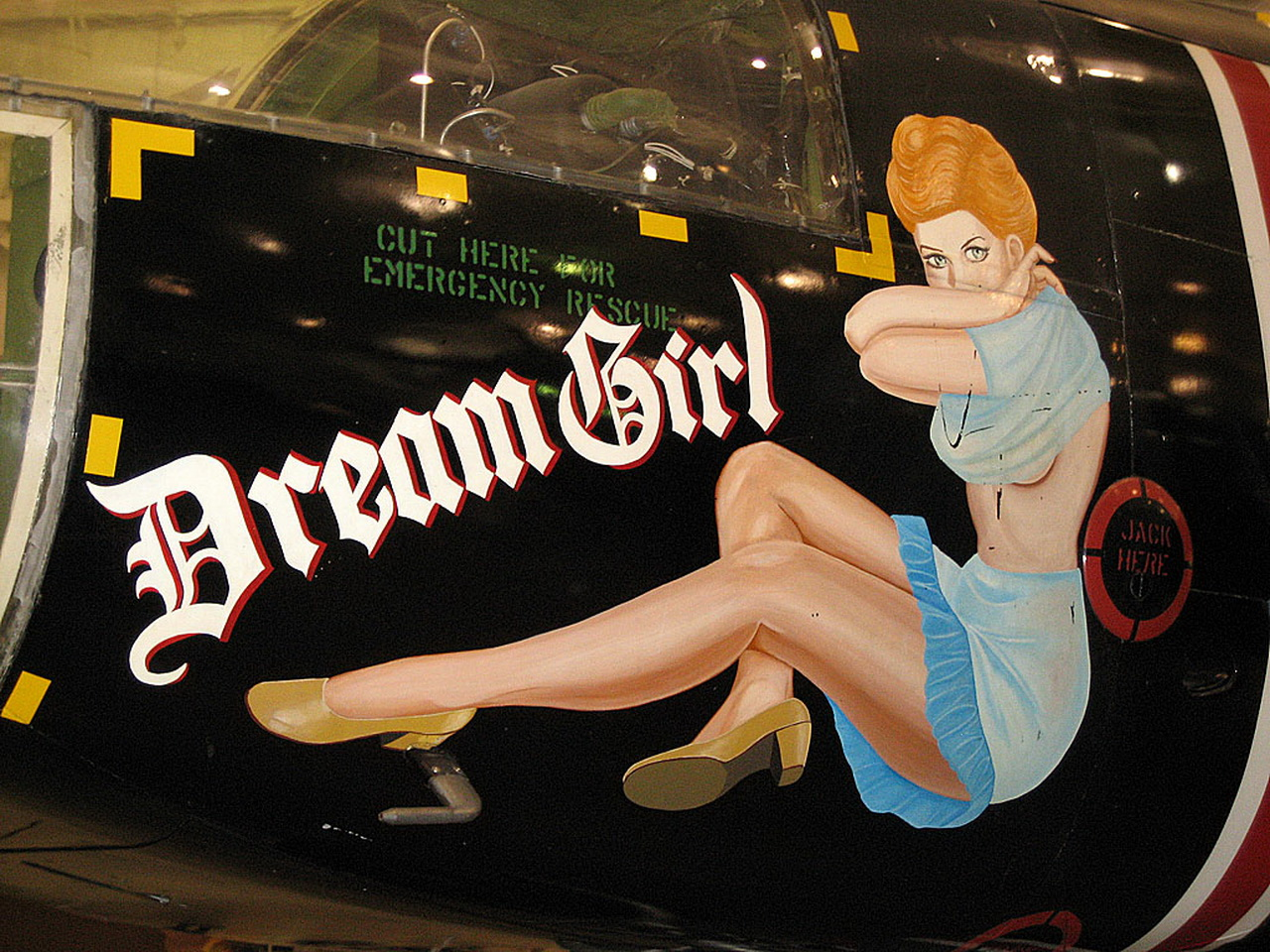 dream girl aircraft noseart