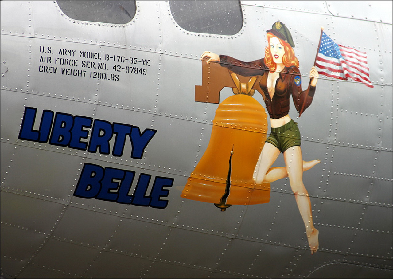 liberty belle airplane bomber nose art