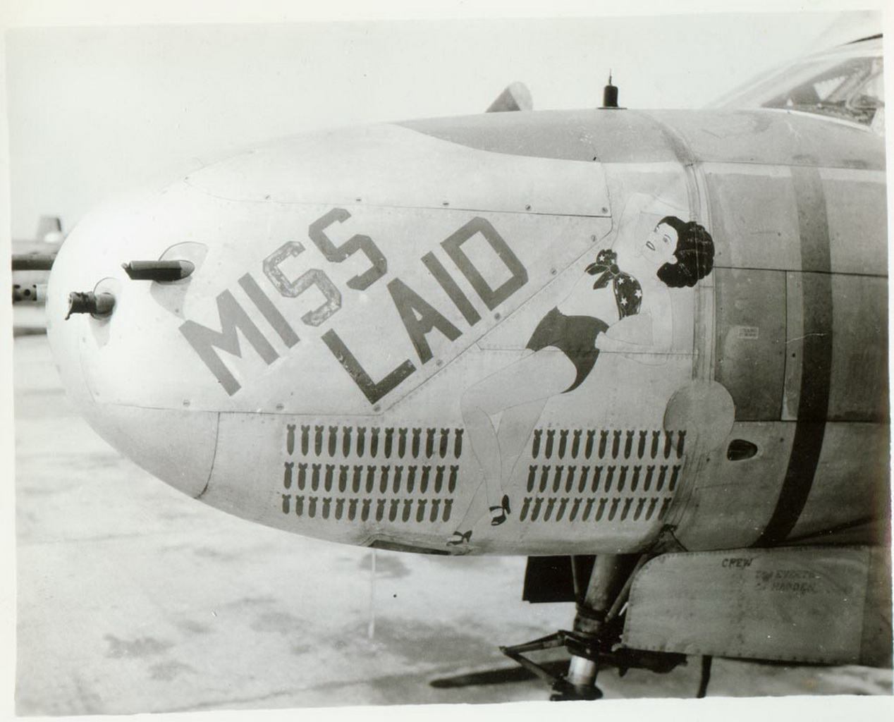 miss laid nose art